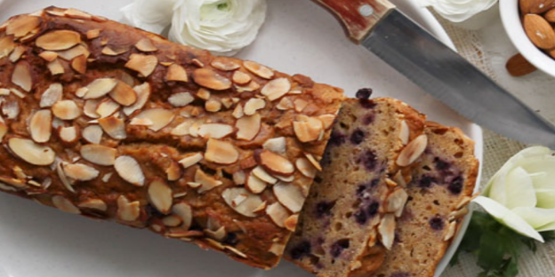 Gluten-free Blueberry and Lemon Loaf