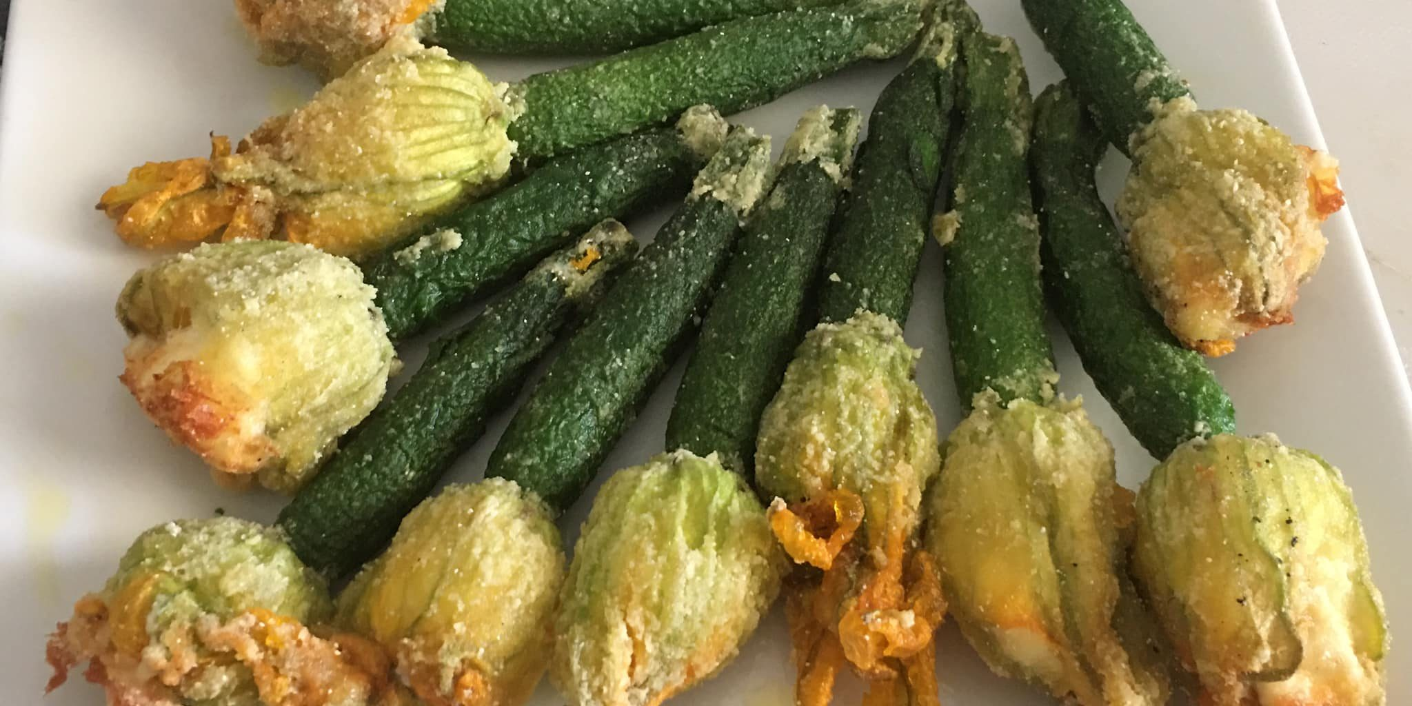Stuffed Zucchini Flowers With Ricotta An Instant On The Lips