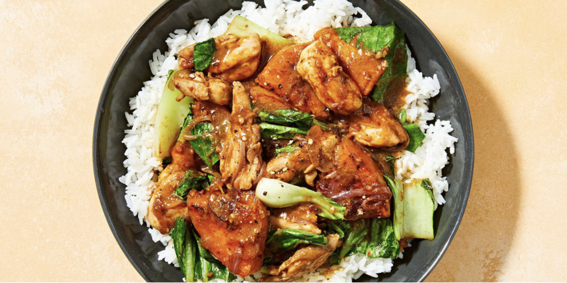 Lemongrass Chicken Stir-Fry with Pumpkin and Jasmine Rice