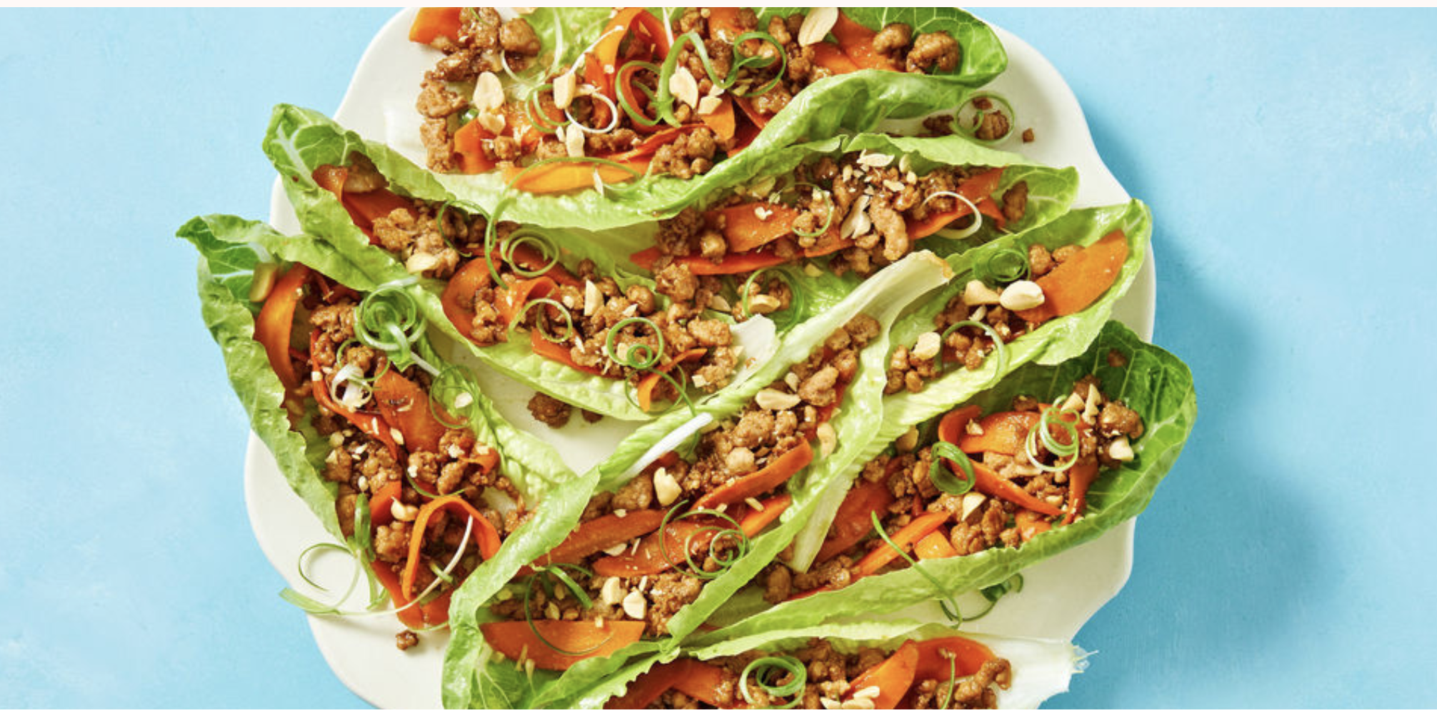Reduced-Carb Pork San Choy Bau with Salted Peanuts