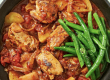Low-Cal Tuscan Chicken Casserole with Green Beans