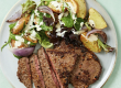 Low-Cal Peri Peri Beef Steaks with Mixed Leaf and Chat Potato Salad